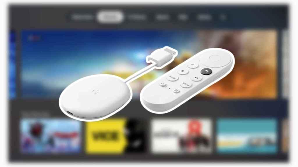 Un Chromecast Google TV.