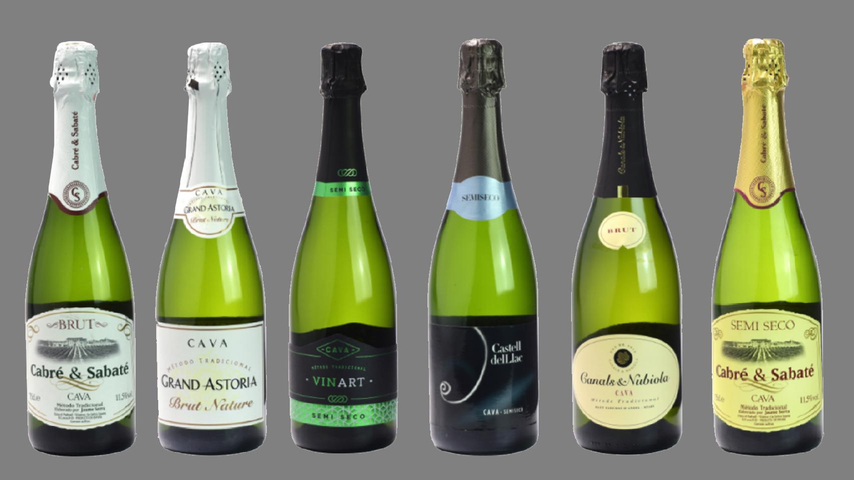 Algunas de las mejores botellas de cava según la OCU.