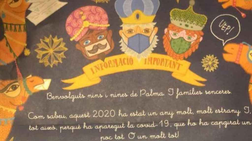 La carta enviada a los niños en Palma.