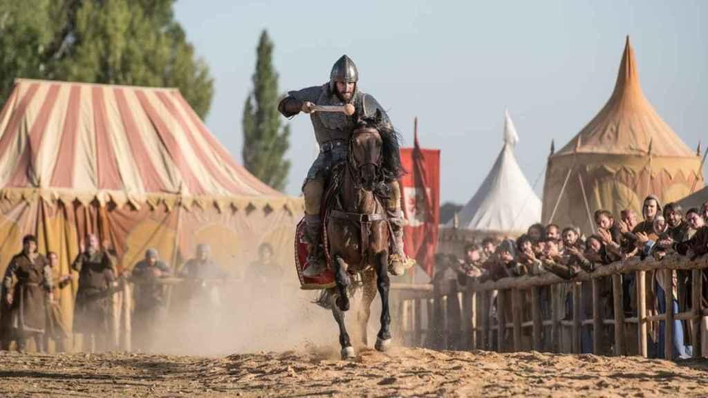 Un fotograma de la justa de 'El Cid'.