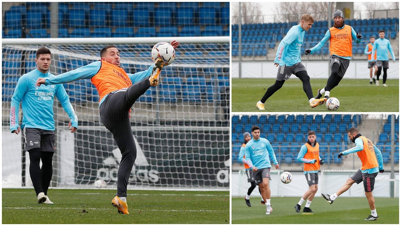 El Real Madrid se entrena en Valdebebas