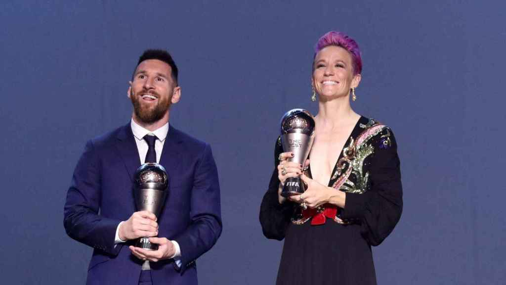 Messi y Rapinoe reciben el The Best