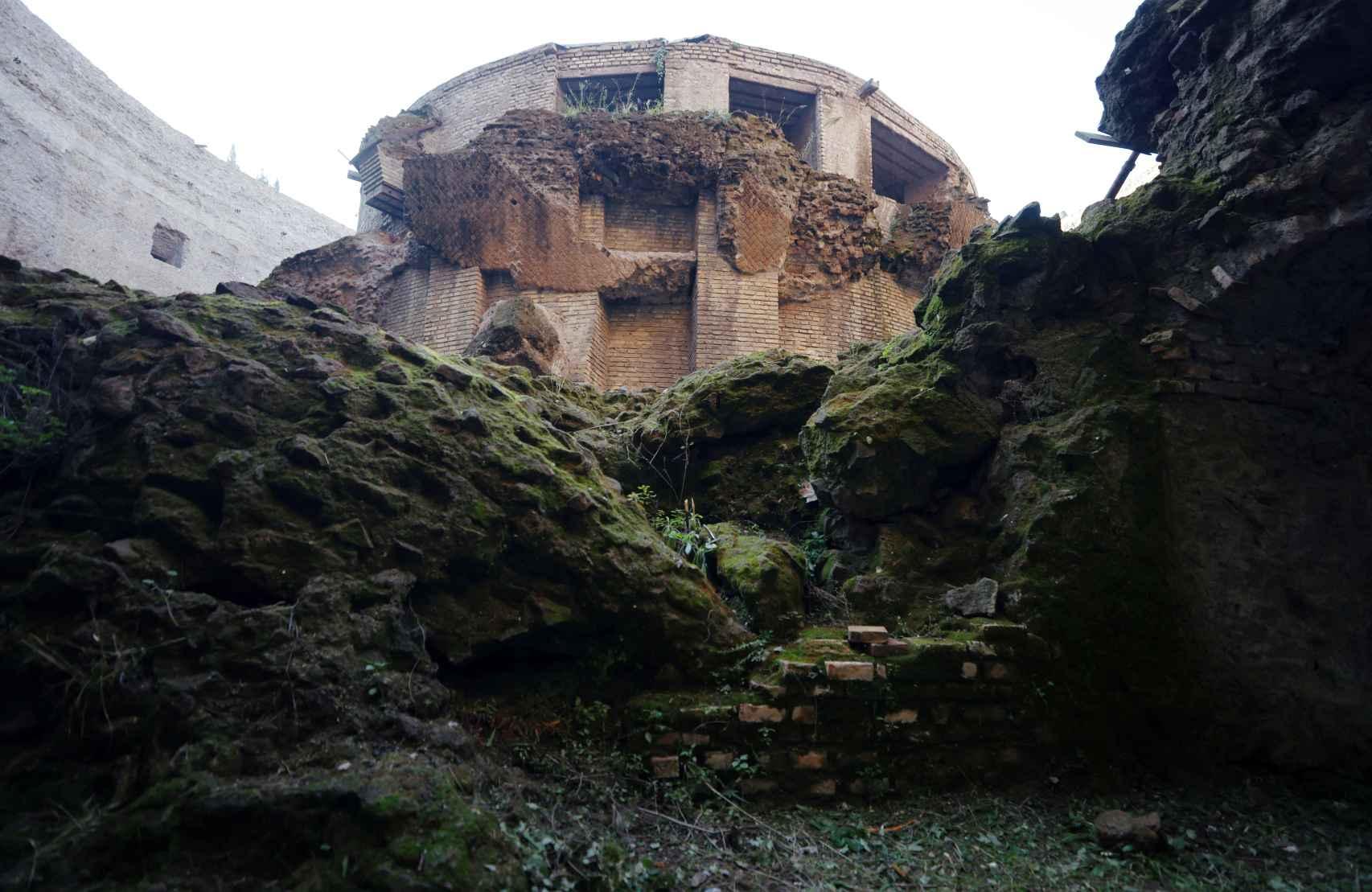 Edificio cilíndrico en el que se depositaron las cenizas de Augusto.