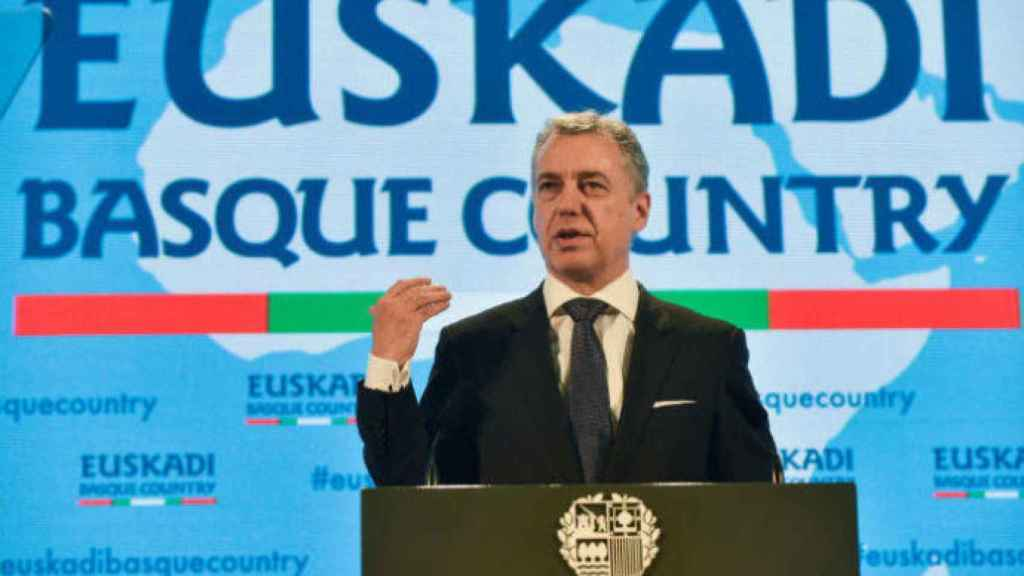 El 'lehendakari', Iñigo Urkullu, presenta el plan 'Euskadi Basque Country'.