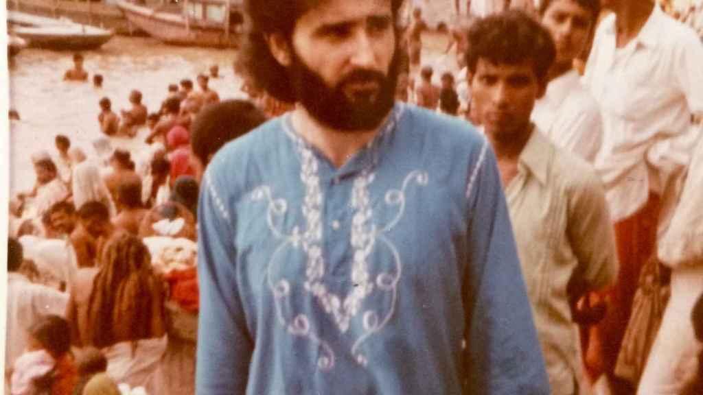 Ramiro en su primer viaje a la India, en 1972.