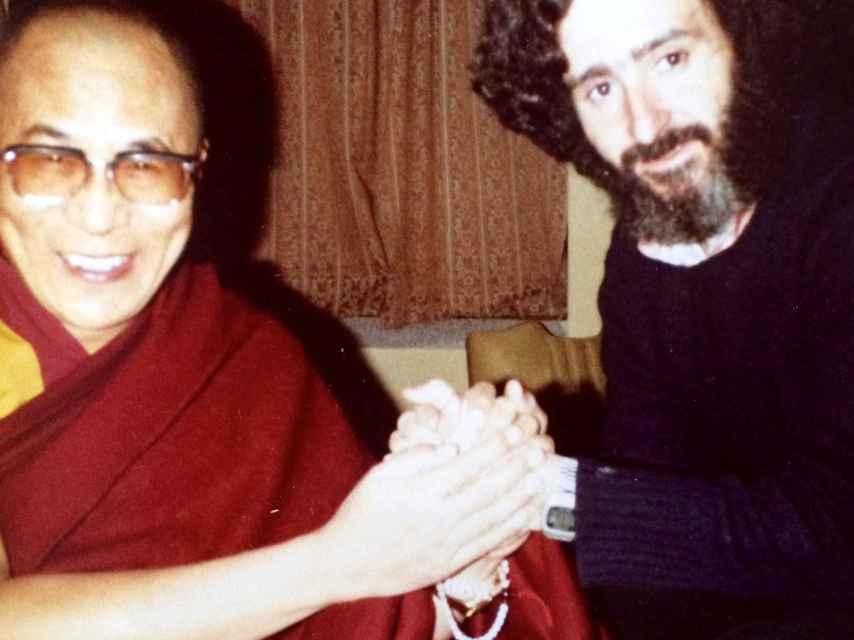 Ramiro junto al Dalai Lama.