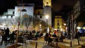 Madrileños en una terraza durante la pandemia.