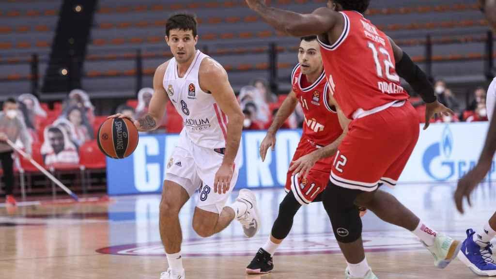 Laprovittola, en un partido del Real Madrid de Baloncesto en la Euroliga