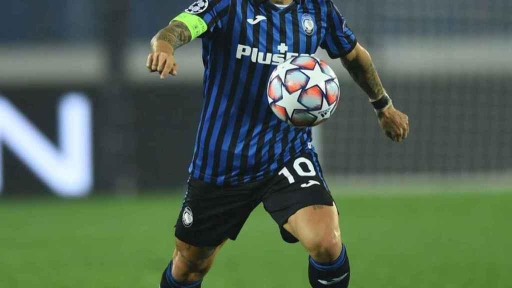 El 'Papu' Gómez en un partido de Champions con el Atalanta