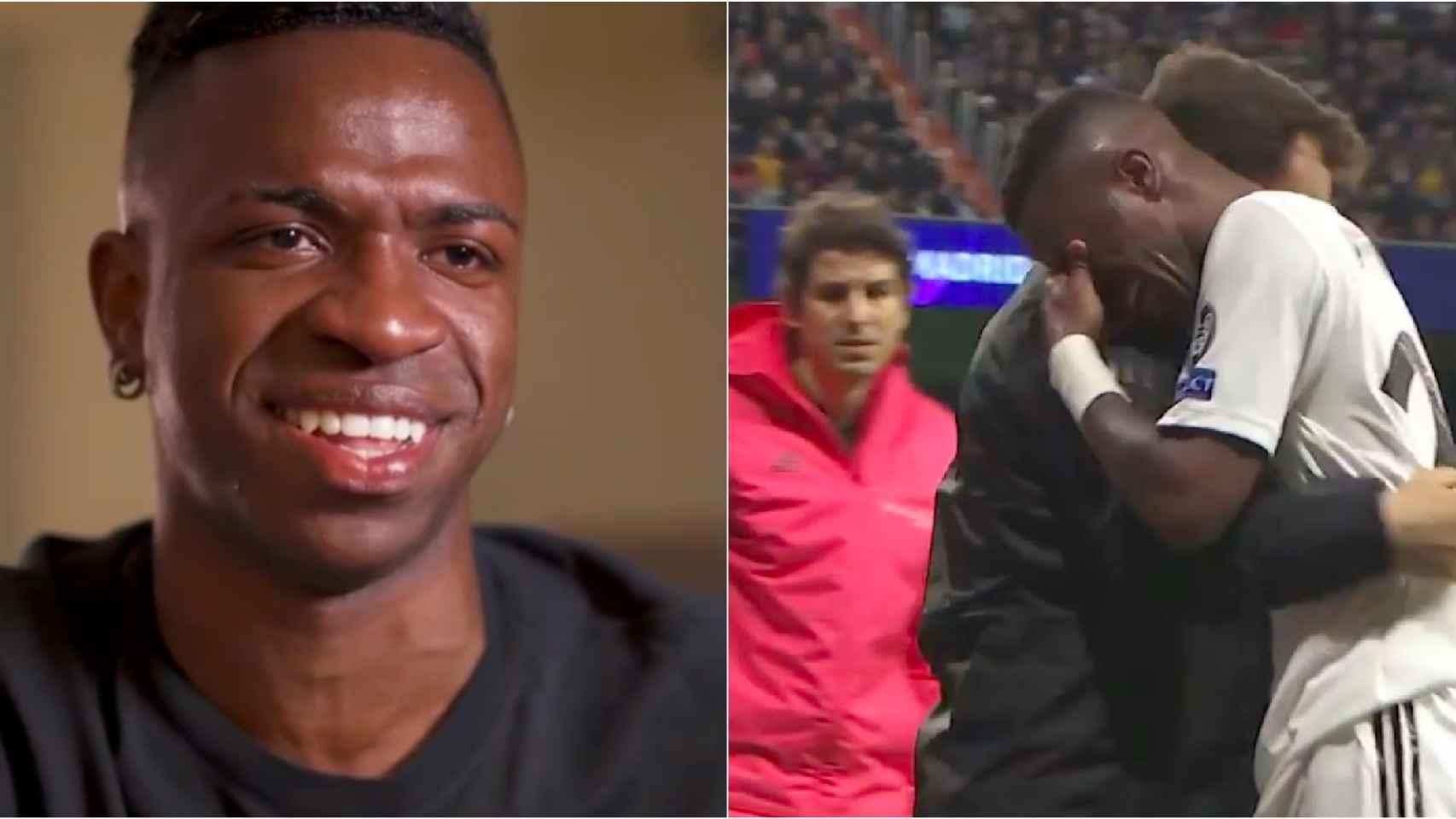 Vinicius recuerda su lesión de 2019 contra el Ajax