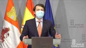 El presidente de la Junta de Castilla y León, Alfonso Fernández Mañueco, este viernes.