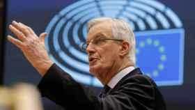 El negociador de la UE para el 'brexit', Michel Barnier, este viernes en la Eurocámara