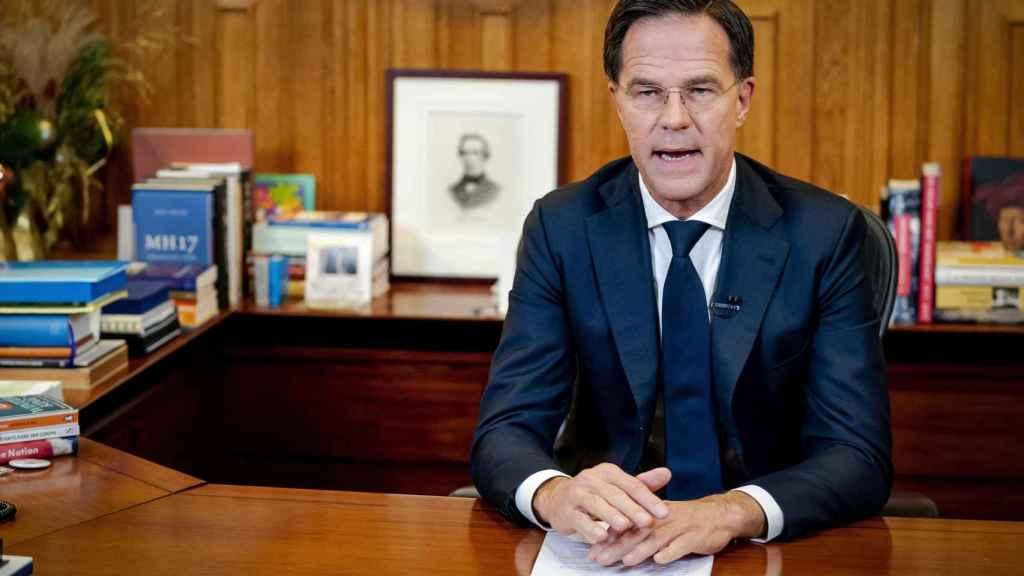 El primer ministro neerlandés, Mark Rutte, durante su discurso a la nación el pasado 14 de diciembre.