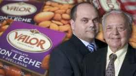 Pedro López Mayor y su hijo, Pedro López López, actual director de Chocolates Valor.