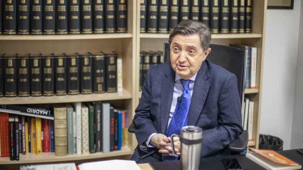 Jiménez Losantos, durante la entrevista.