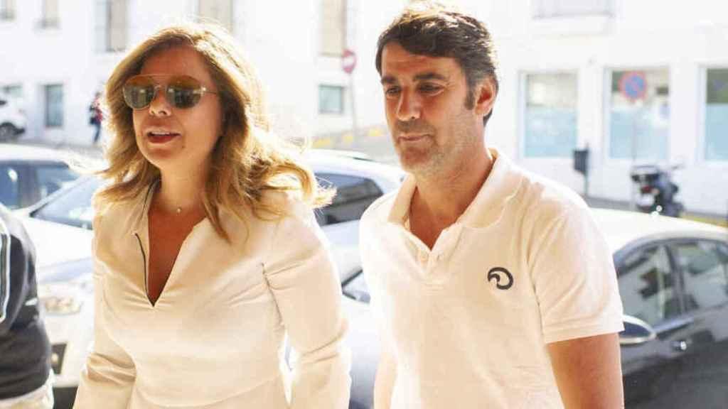 Campanario y Jesulín asistiendo al juicio en Arcos de la Frontera en 2019.