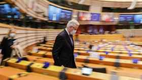 Michel Barnier, negociador de la UE para el 'brexit', en la Eurocámara.