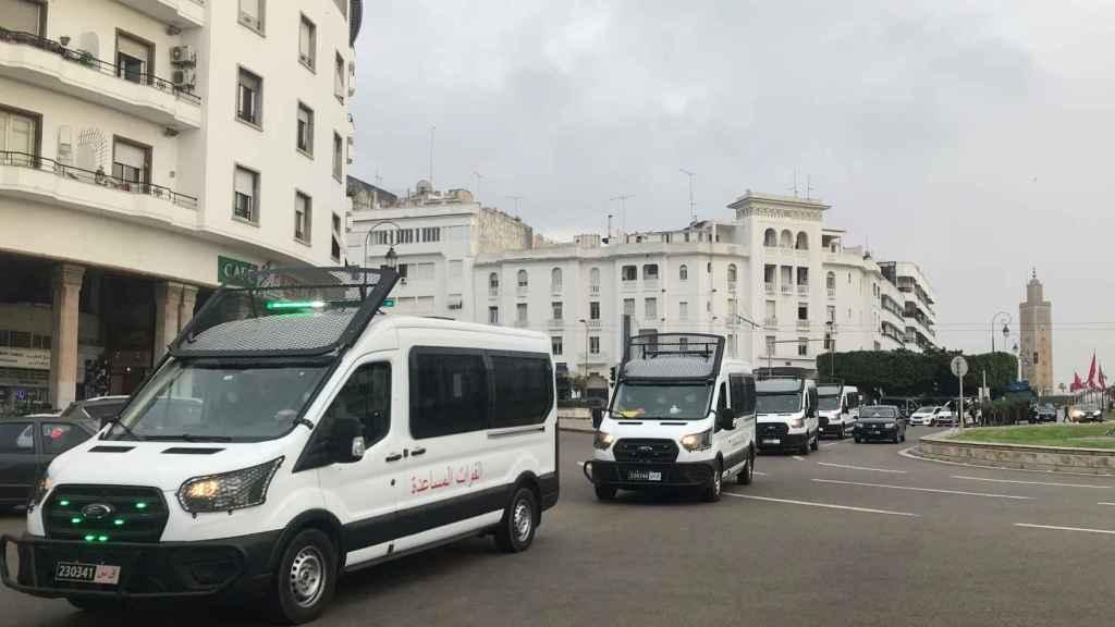 Vehículos de las fuerzas de seguridad en Rabat.