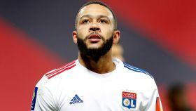 Memphis Depay, durante un partido con el Olympique de Lyon