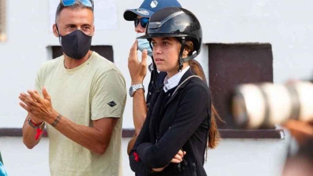 Luis Enrique y su Sira en una competición.