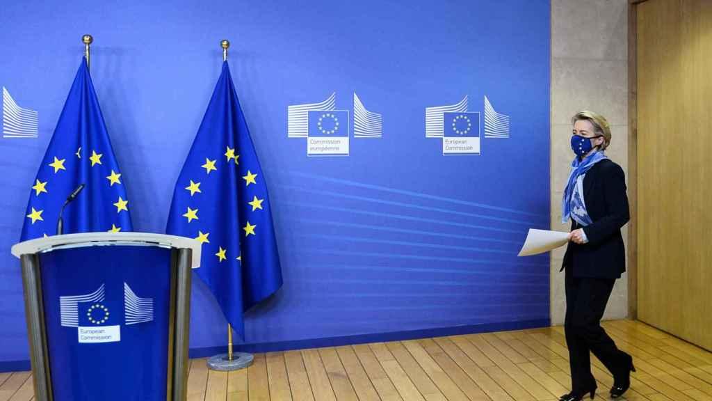 Ursula von der Leyen, presidenta de la Comisión Europea, en una imagen de archivo.