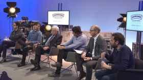 Paolo Vasile junto a creadores de ficción