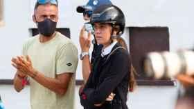Luis Enrique con su hija Sira en una competición