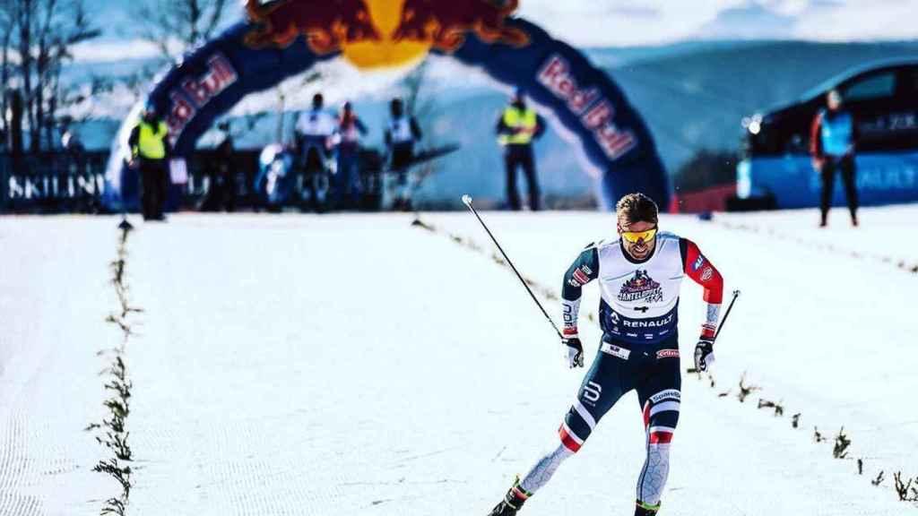 Petter Northug en una competición