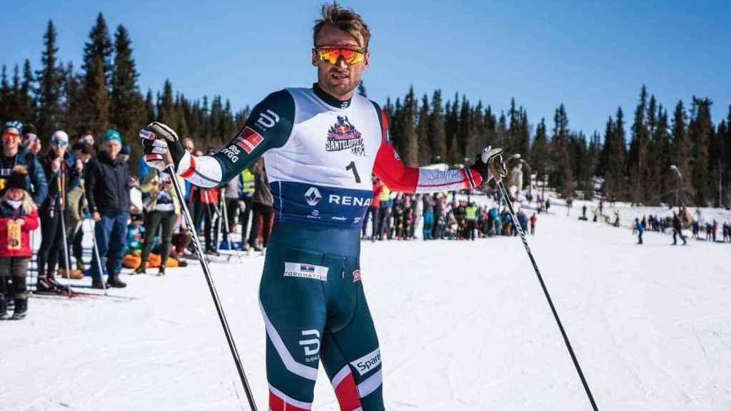 Petter Northug antes de una competición