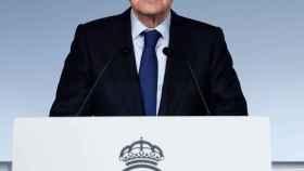 Florentino Pérez, durante la Asamblea General de Socios Compromisarios 2020