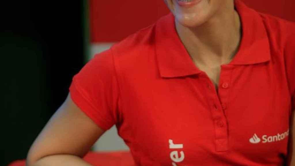 Carolina Marín en la presentación de su autobiografía 'Puedo porque pienso que puedo'
