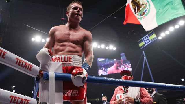 Canelo Álvarez después de su victoria ante Callum Smith