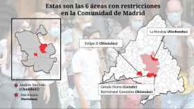 El mapa de las 6 zonas de salud con restricciones en Madrid: sólo repite el barrio rico de La Moraleja