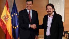 Pedro Sánchez y Pablo Iglesias. Efe