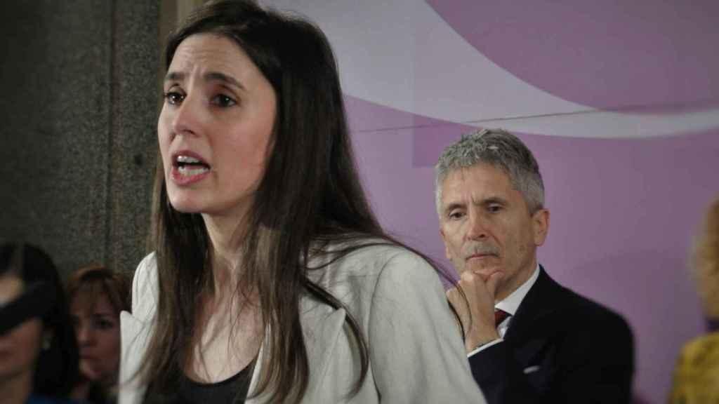 Irene Montero, ministra de Igualdad, y Fernando Grande-Marlaska, ministro del Interior.