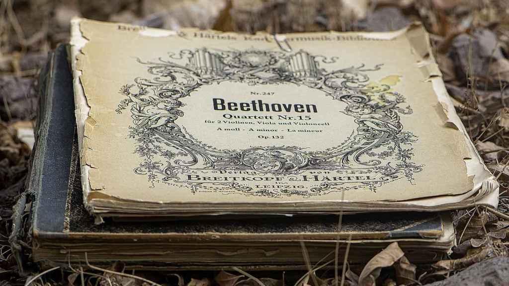 Una partitura de Beethoven.