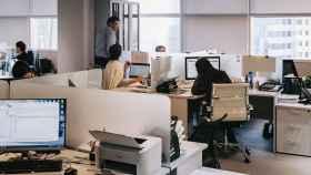 Una oficina antes de la pandemia.