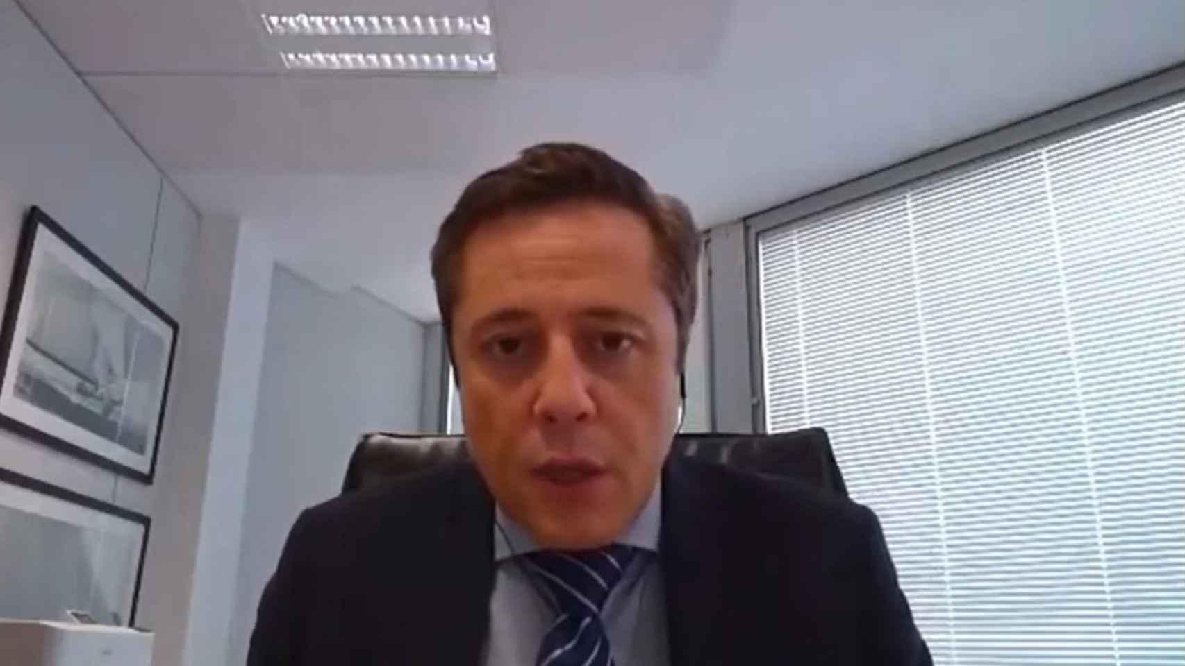 José Bayón, consejero delegado de Enisa, durante un reciente evento de AFI Escuela de Finanzas.