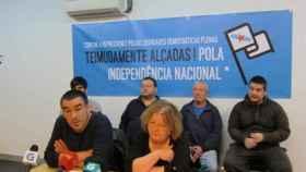 Imputados en la Operación Jaro durante una rueda de prensa.