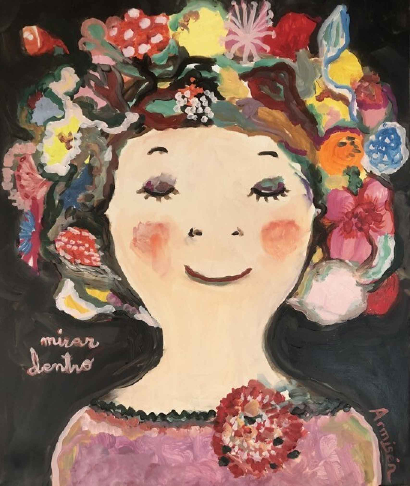 ' Mirar dentro', una pintura de Eva Armisén.