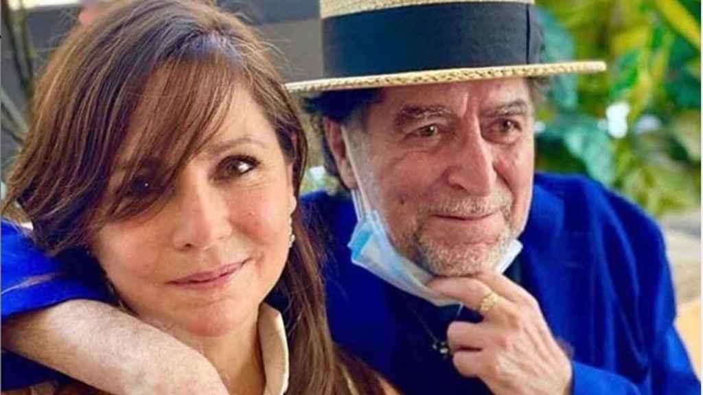 Joaquín Sabina y Jimena Coronado en una imagen de su boda.