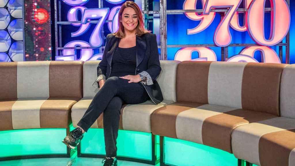 Toñi Moreno en el programa de Canal Sur 'Un año de tu vida'.