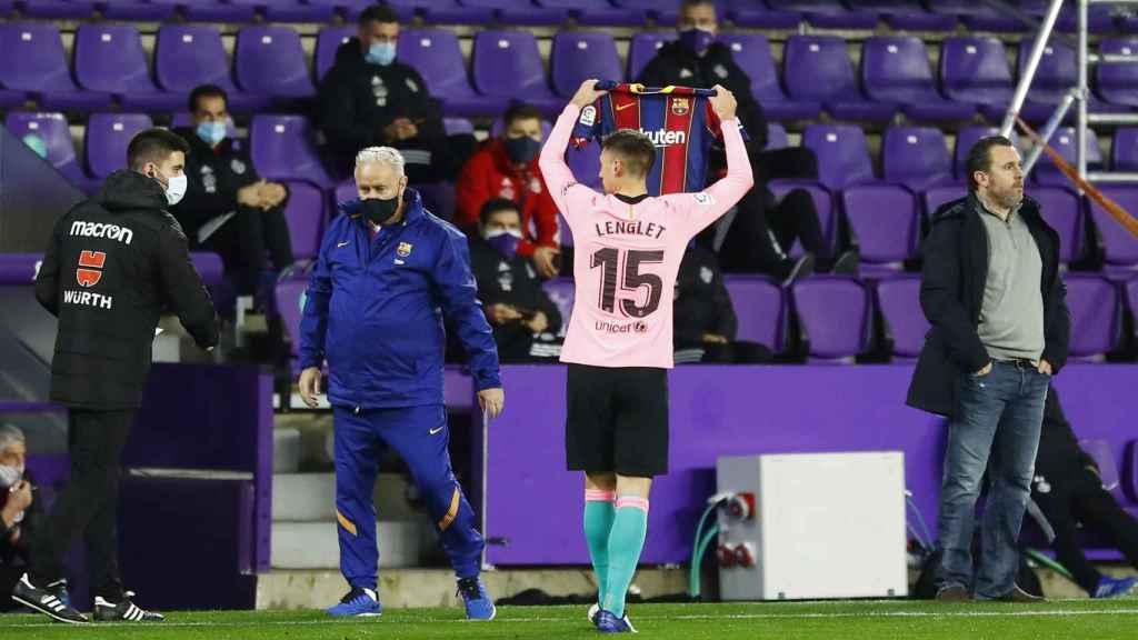 Bonito gesto de Lenglet dedicando su gol a Wagué