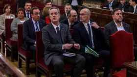 Imagen del banquillo del juicio sobre el 'procés' en el Tribunal Supremo./