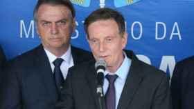 El alcalde de Río de Janeiro, junto al presidente Jair Bolsonaro.