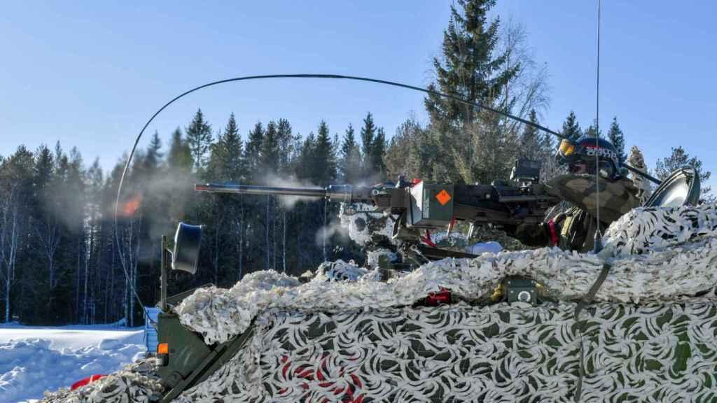 Maniobras militares de Suecia en marzo de 2019.