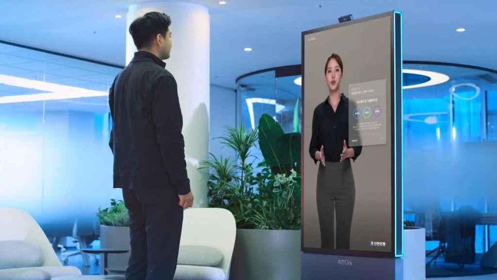 Samsung Neon, demostrado en una 'empleada virtual' de banco