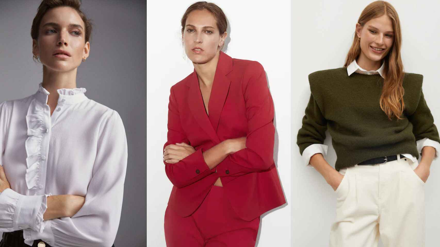 Adiós a las faldas y vestidos, los trajes y los jerséis serán la prenda clave de tus 'looks'