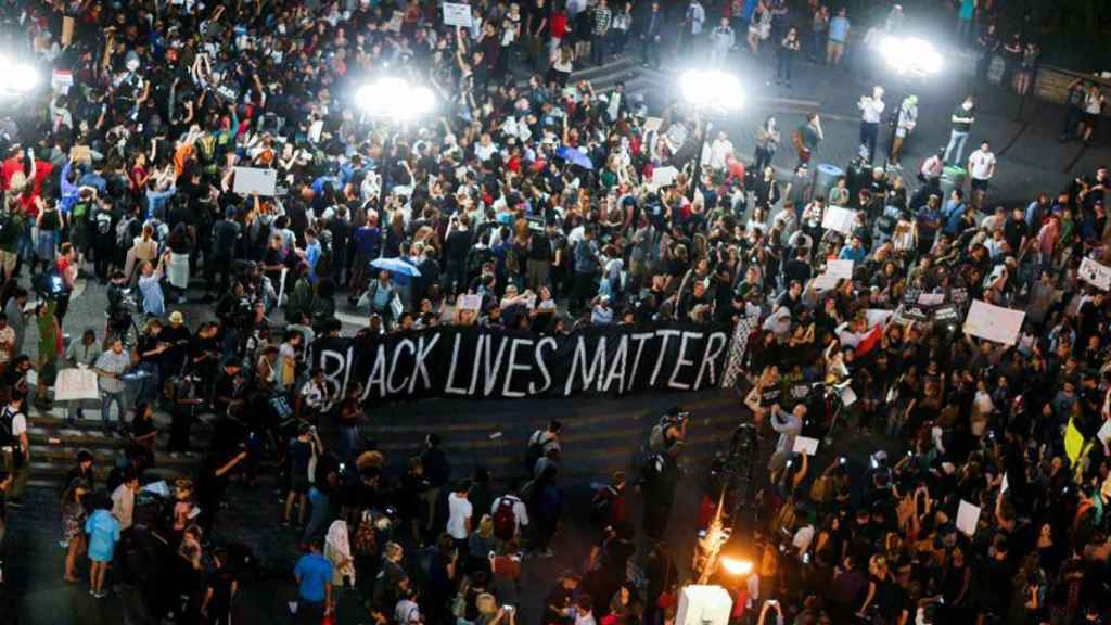 Una manifestación de Black Lives Matter.