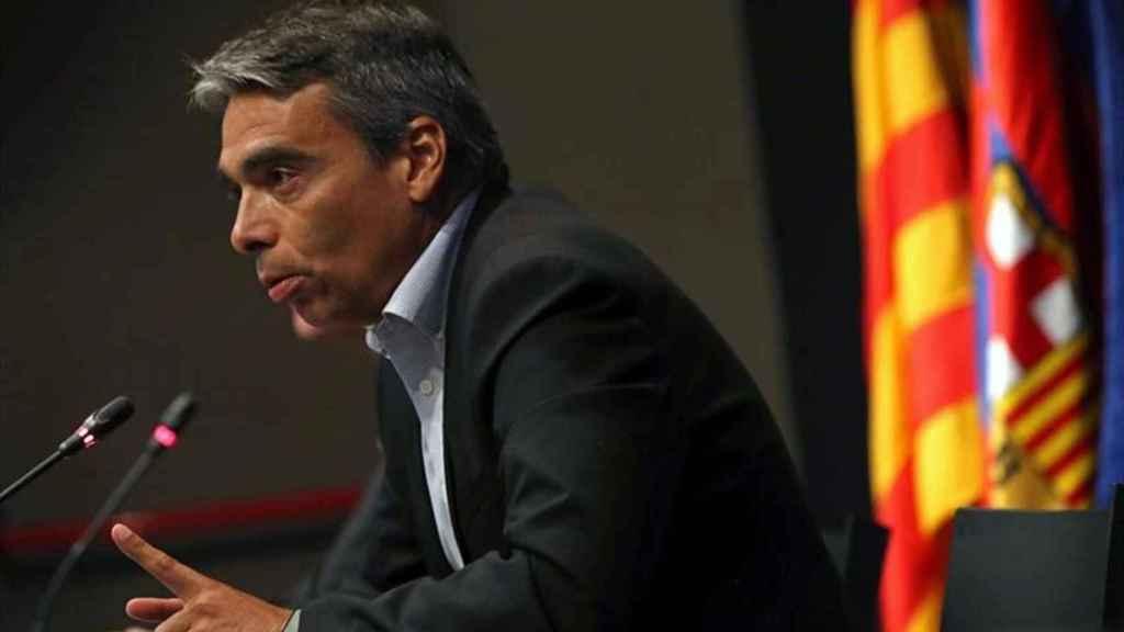 Albert Soler, durante una rueda de prensa